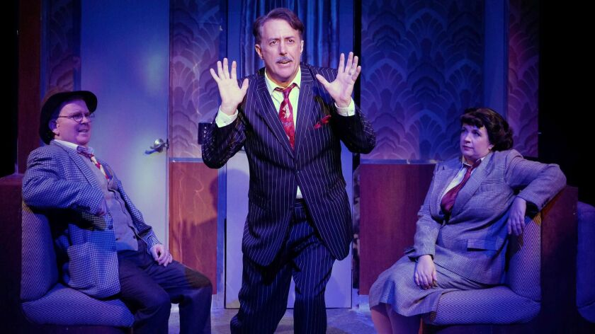 "Steve Gunderson, Sean Murray and Melissa Fernandes (from left) in ""On the Twentieth Century."""