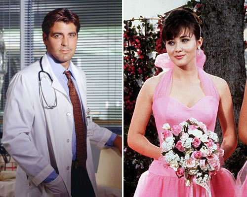 George Clooney and Shannen Doherty