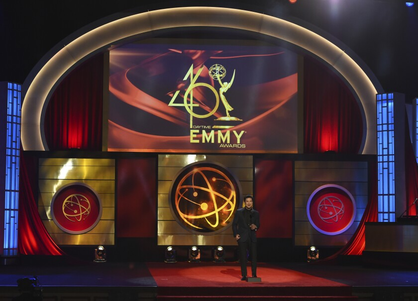 Host Mario Lopez on stage at the 46th Daytime Emmy Awards in Pasadena, Calif.