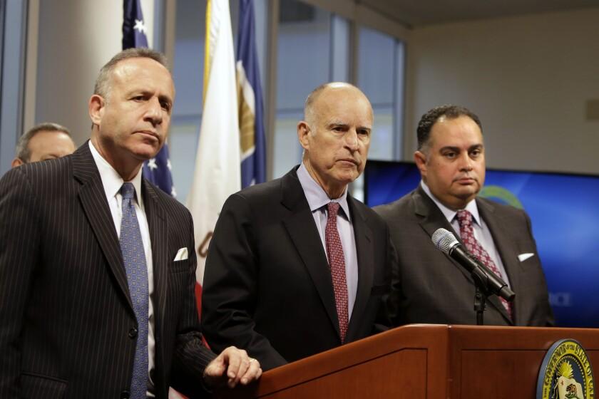 Darrell Steinberg, Jerry Brown, John Perez