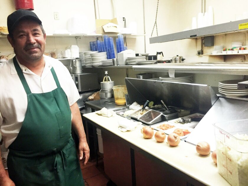 Jose Sanchez has been head chef at the Incredible Cafe for 22 years.
