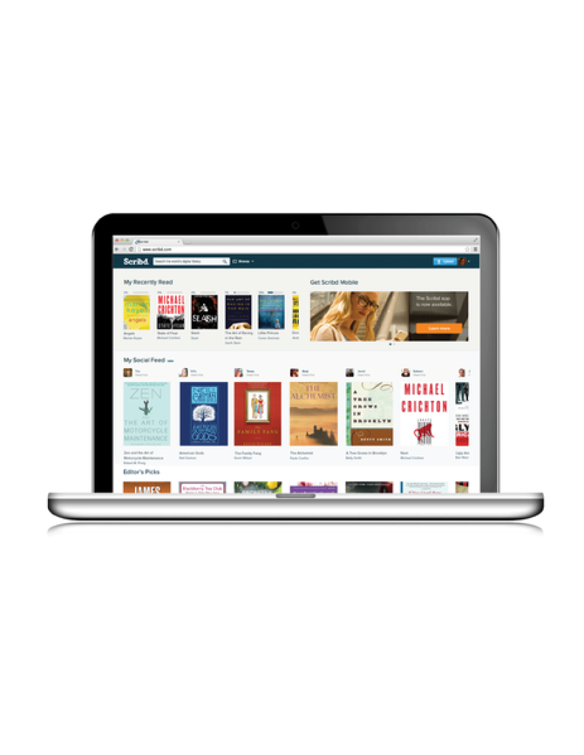 Scribd announced plans to offer titles from News Corp.'s HarperCollins in its bid to create the world's largest digital subscription service.