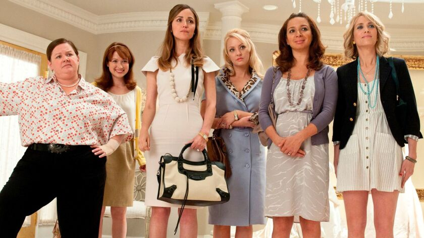 "The cast of ""Bridesmaids,"" one of the many movies costume designer and personal stylist Leesa Evans"