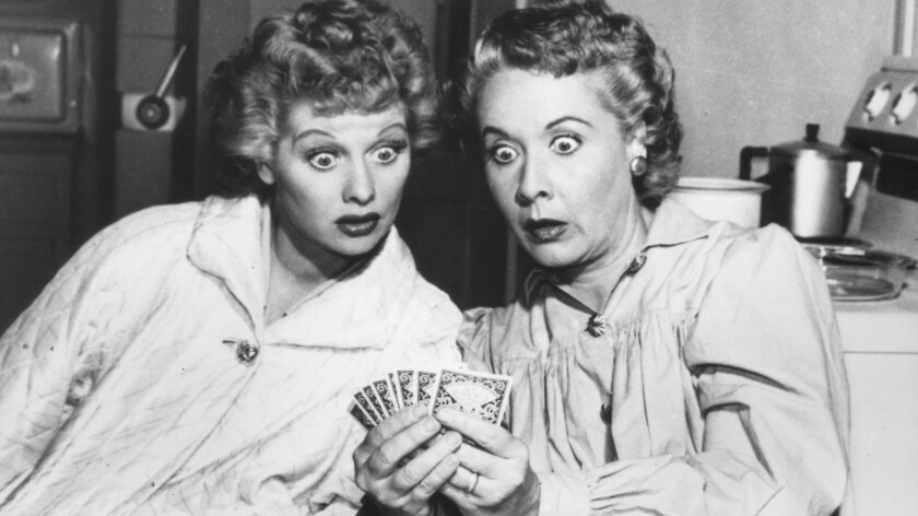 """Lucille Ball and Vivian Vance in """"I Love Lucy."""""""