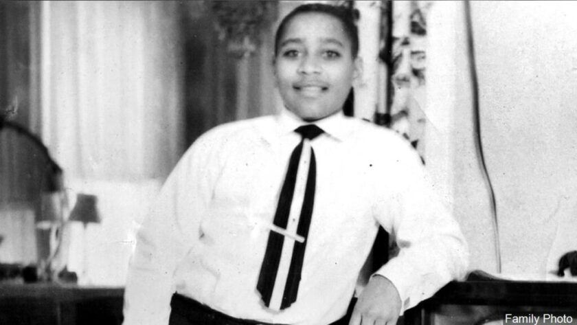 A historical photo of Emmett Till