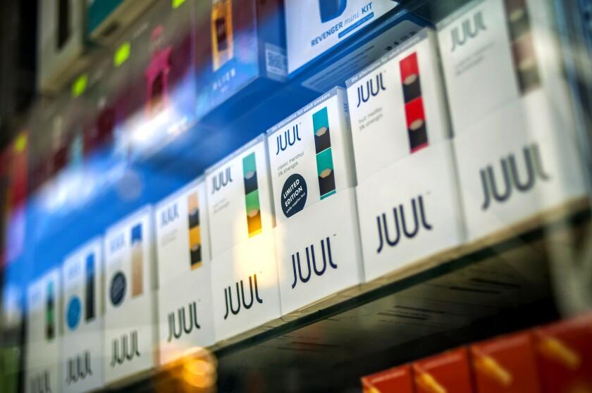 Flavored Juul vaping supplies