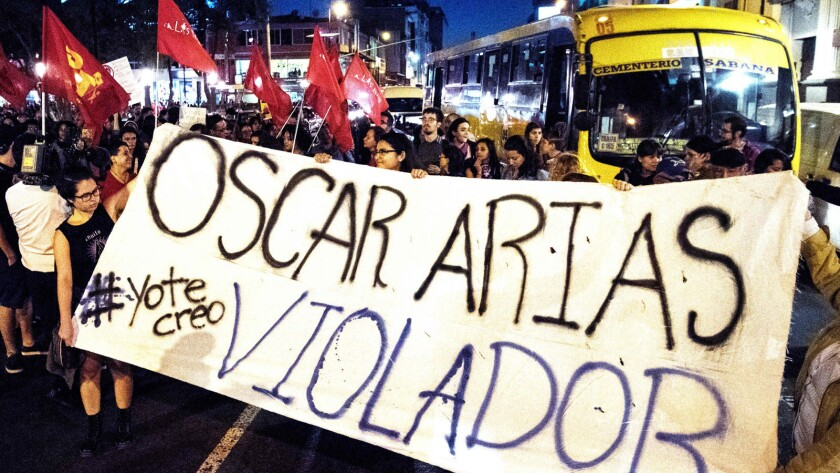 COSTA RICA-POLITICS-ASSAULT-JUSTICE-ARIAS