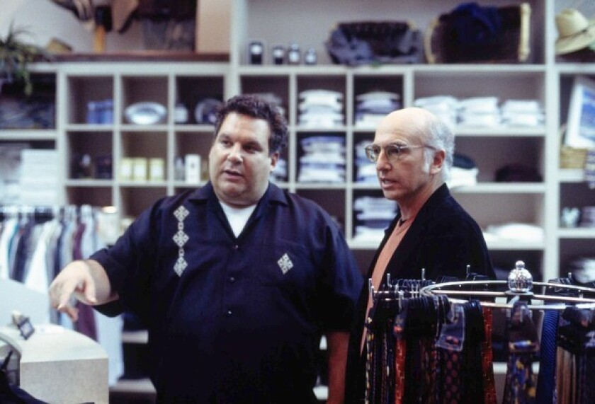 "Jeff Garlin and Larry David go shopping in an early season of ""Curb Your Enthusiasm"""