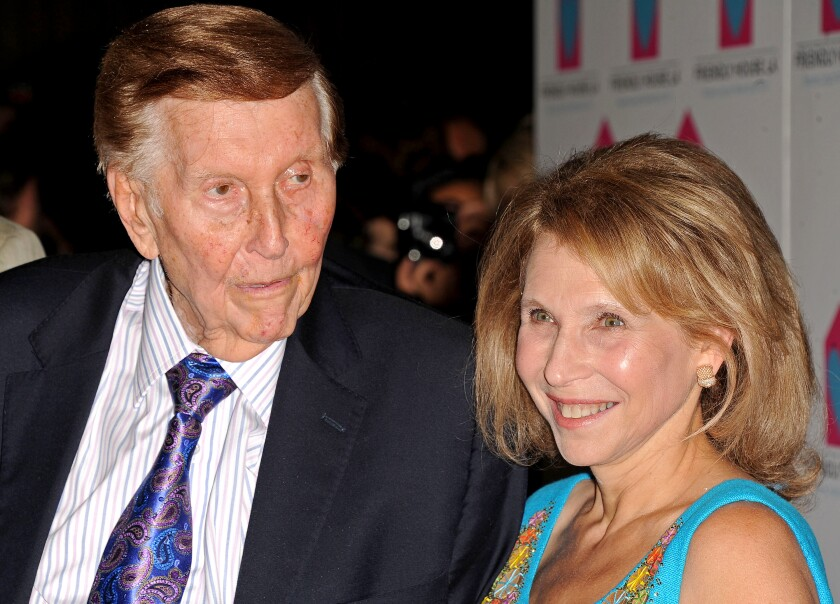 Sumner Redstone and daughter Shari in 2012.