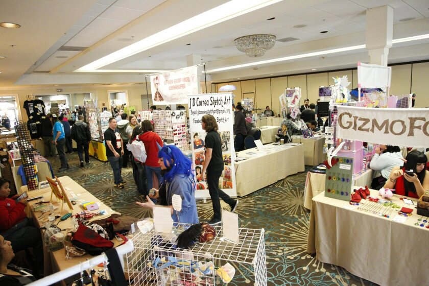 [January 10th, 2016] The vendors room at Pacific PonyCon where My Little Pony related goods and merchandise are being sold. Chadd Cady/For The San Diego Union-Tribune
