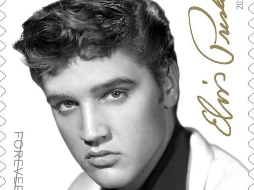 The U.S. Postal Service will release this new Elvis Presley commemorative stamp.