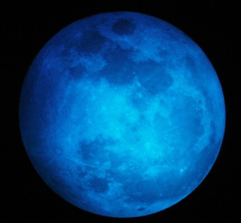 A 'blue moon' in 2012.