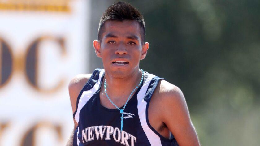 Newport Harbor cross country runner Alexis Garcia won the Laguna Hills Cross Country Invitational, d