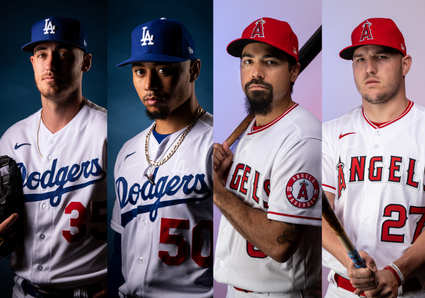 Cody Bellinger, Mookie Betts, Anthony Rendon and Mike Trout.