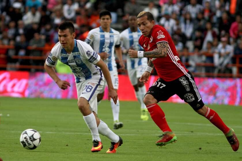 El goleador de Xolos de Tijuana, Dayro Moreno, podría volver a su país con el Atlético Nacional.