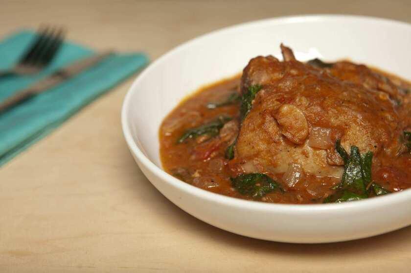 A chicken stew dish.