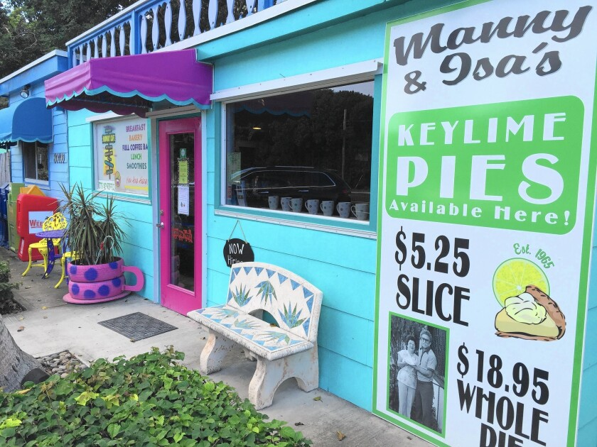 Midway Cafe in Islamorada is a great place to grab a snack — and delicious Key lime pie —while biking in the Keys.