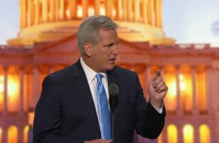 House Majority Leader Kevin McCarthy (Calif.) speaks at the Republican National Convention