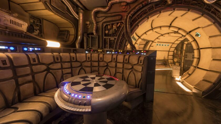 Star Wars: GalaxyÕs Edge Ð Chess Room in Millennium Falcon: Smugglers Run
