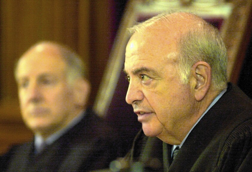 Justice Marvin Baxter of California Supreme Court to retire