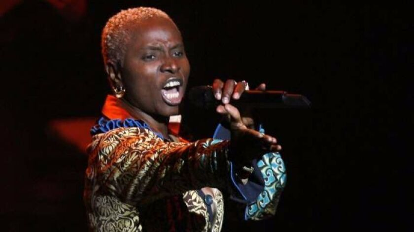 West African vocal dynamo Angelique Kidjo will sing on Aug. 13.