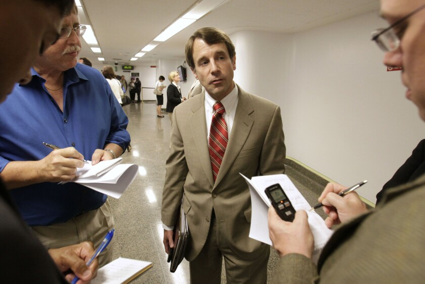 California Insurance Commissioner Dave Jones, second from right, has filed papers saying he intends to run for state attorney general in 2018.