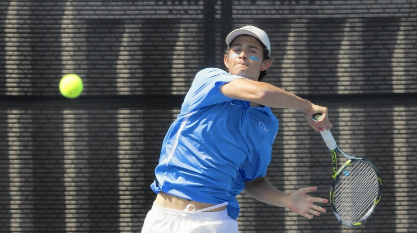 Corona del Mar High graduate Bjorn Hoffmann plans to play his final year of college tennis at UC Irvine next spring.