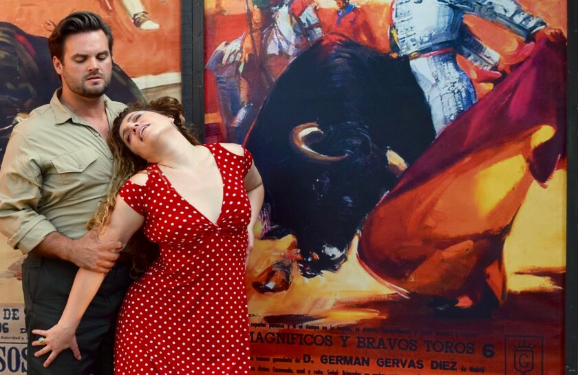 """Dane Suarez and Nora Graham-Smith will share the stage in Pacific Opera Project's presentation of Bizet's """"Carmen"""" at the Ford Theatres."""