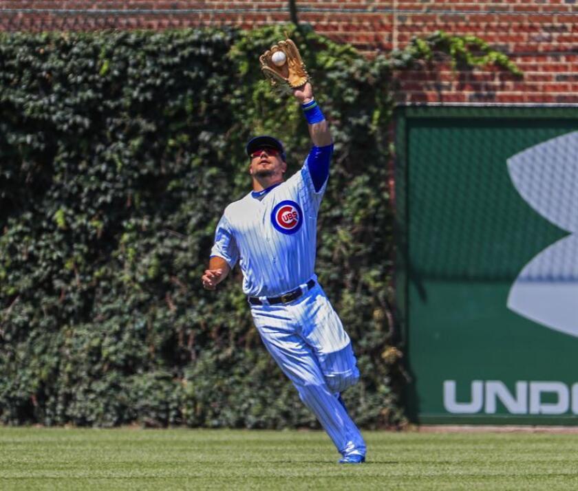 En la imagen, el jugador de los Cachorros de Chicago Kyle Schwarber. EFE/Archivo