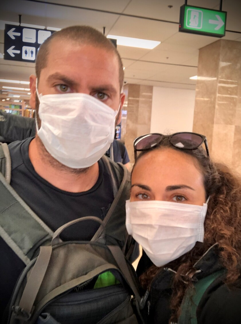Nadine Bialostozky and Benjamin Capon are among passengers dealing with the current coronavirus outbreak aboard the Westerdam. The couple, raised in Carmel Valley, is to be married in five weeks.