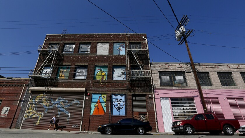 A string of warehouses on the western edge of Boyle Heights have recently been converted into art galleries.