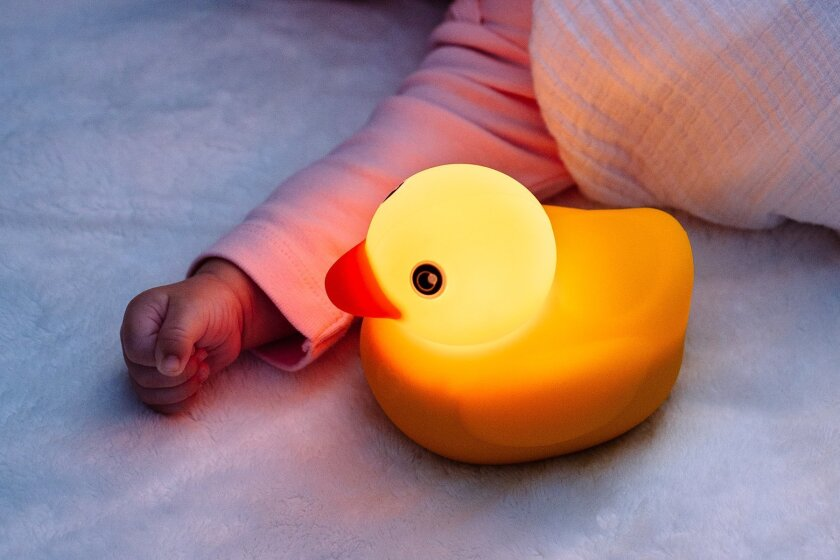 Smart duck, Edwin, can stream lullabies at bedtime or just be a child's nightlight.