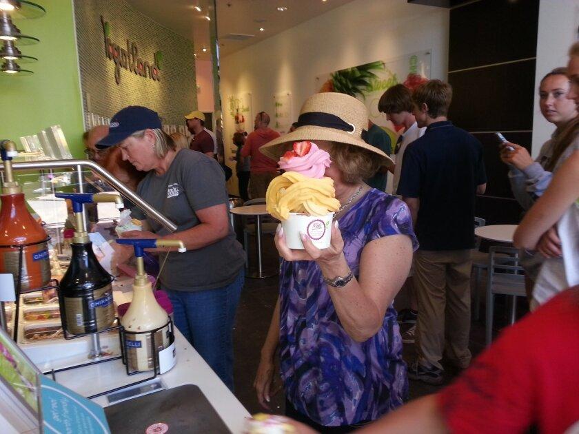 Popular Yogurtland in Flower Hill Promenade is celebrating its third anniversary.