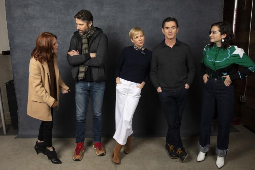 PARK CITY, UTAH -- JANUARY 25, 2019 -- Actor Julianne Moore, director Bart Freundlich, actor Michell