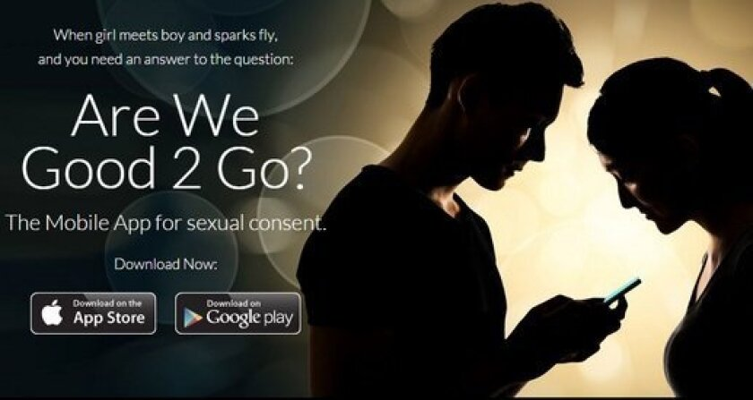 A new app called Good2Go will make sure that sex is between consenting parties