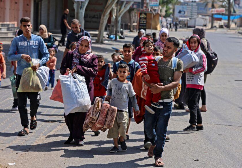 Palestinians fleeing their homes in Gaza