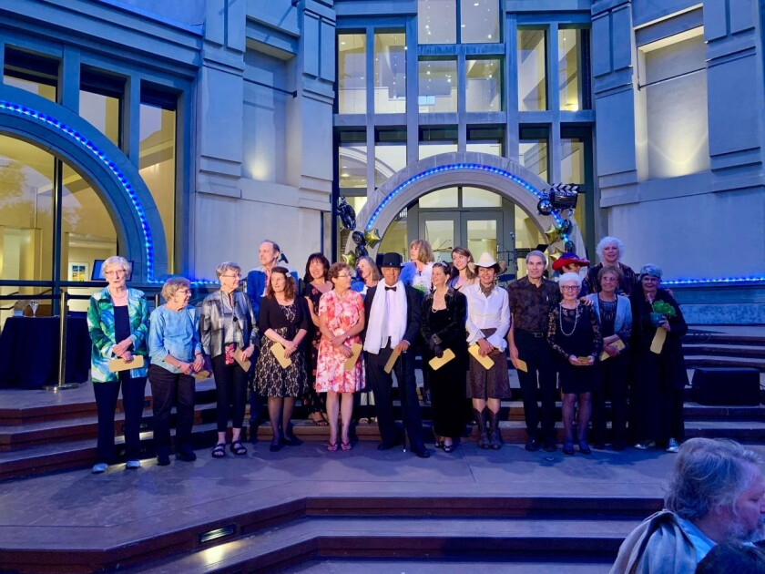 "Dozens of volunteers at the California Center for the Arts, Escondido, were recognized for their service during an Appreciation Dinner in the center's Lyric Court. The arts center marks its 25th anniversary this year. ""The center does not stand alone and cannot celebrate its accomplishments without first celebrating and honoring all the volunteers who worked selflessly to put us on the map,"" said Carlos Crespo, Front of House Manager of the arts center. Volunteers gave more than 7,500 hours of support during the 2018-19 season. For information about volunteering, visit artcenter.org/support/volunteer."