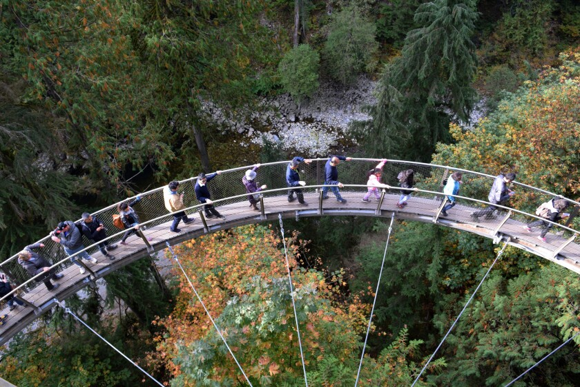 The Canyon Lookout at Capilano Suspension Bridge Park in Vancouver, British Columbia. You can make more of your vacation by taking advantage of airlines' stopover fares in such cities as Vancouver, Beijing, Dubai and more.