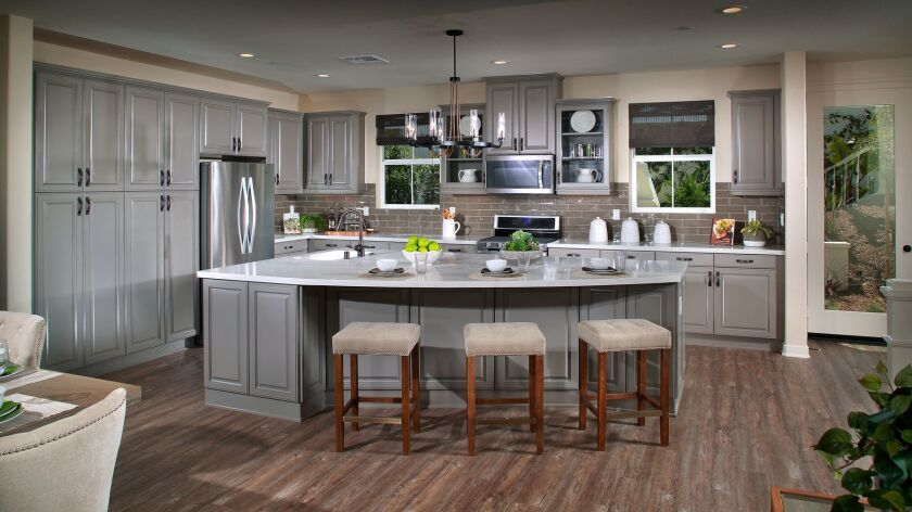 Kitchen option in the Francia community of homes at Oceanside's Mission Lane by Beazer Homes.