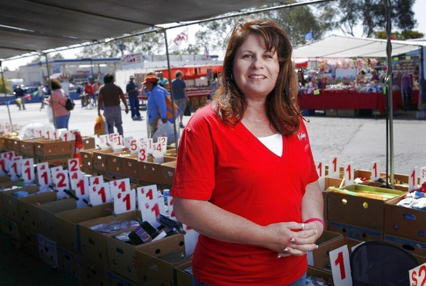 Kimberly Kobey Pretto started working at her grandfather's Park & Swap bazaar in Phoenix when she was 12. She is now president of Kobey's Swap Meet, which is open Fridays, Saturdays and Sundays at the San Diego Sports Arena parking lot.