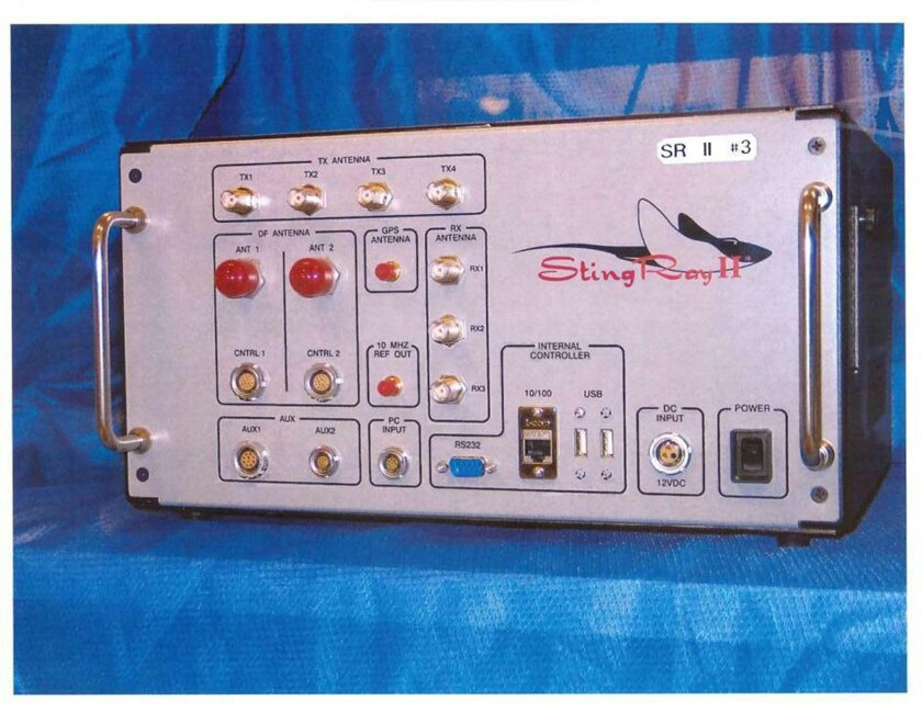 This undated handout photo provided by the U.S. Patent and Trademark Office shows the StingRay II, manufactured by Harris Corporation, of Melbourne, Fla., a cellular site simulator used for surveillance purposes. A police officer testified Wednesday, April 8, 2015, that the Baltimore Police Departm
