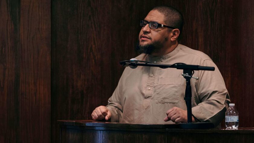 Imam Isa Parada of Centro Islámico mosque in Houston.