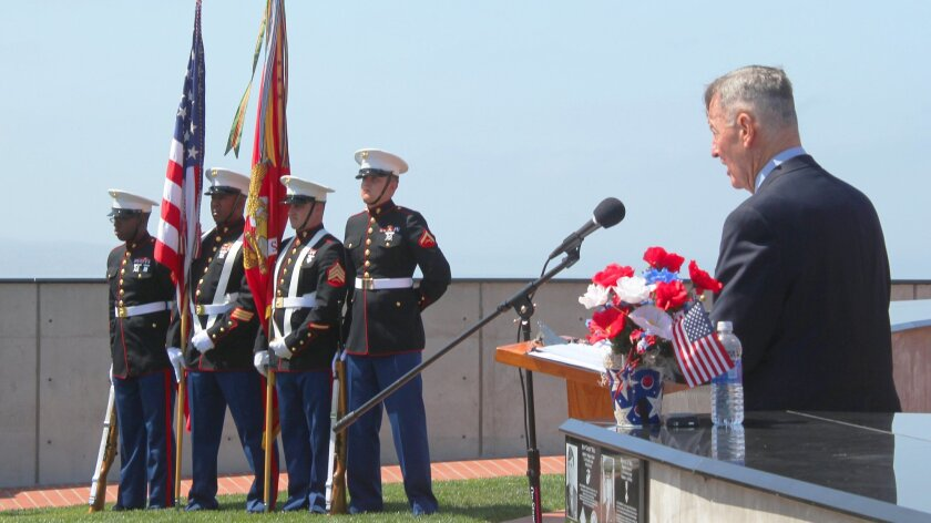 "Retired Marine Brig. Gen. Michael Neil remembers his father as a ""tough guy"" who instilled character in him."