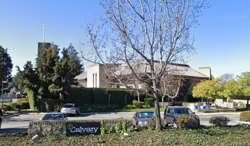 An exterior view of Calvary Chapel in San Jose.