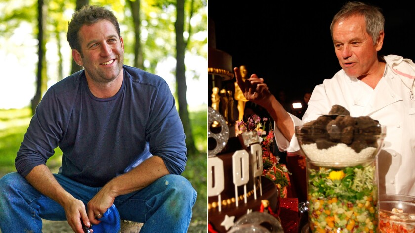 Adam Perry Lang and Wolfgang Puck have a BBQ