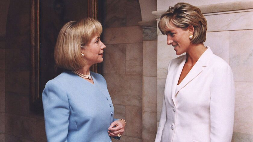 Princess Diana (right) with Hillary Clinton in 1997.
