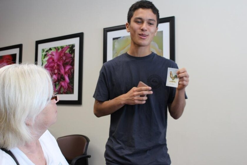 Pacific Ridge senior Julien Barthelemy connects teens and senior citizens through his WIT project, PLEASE.