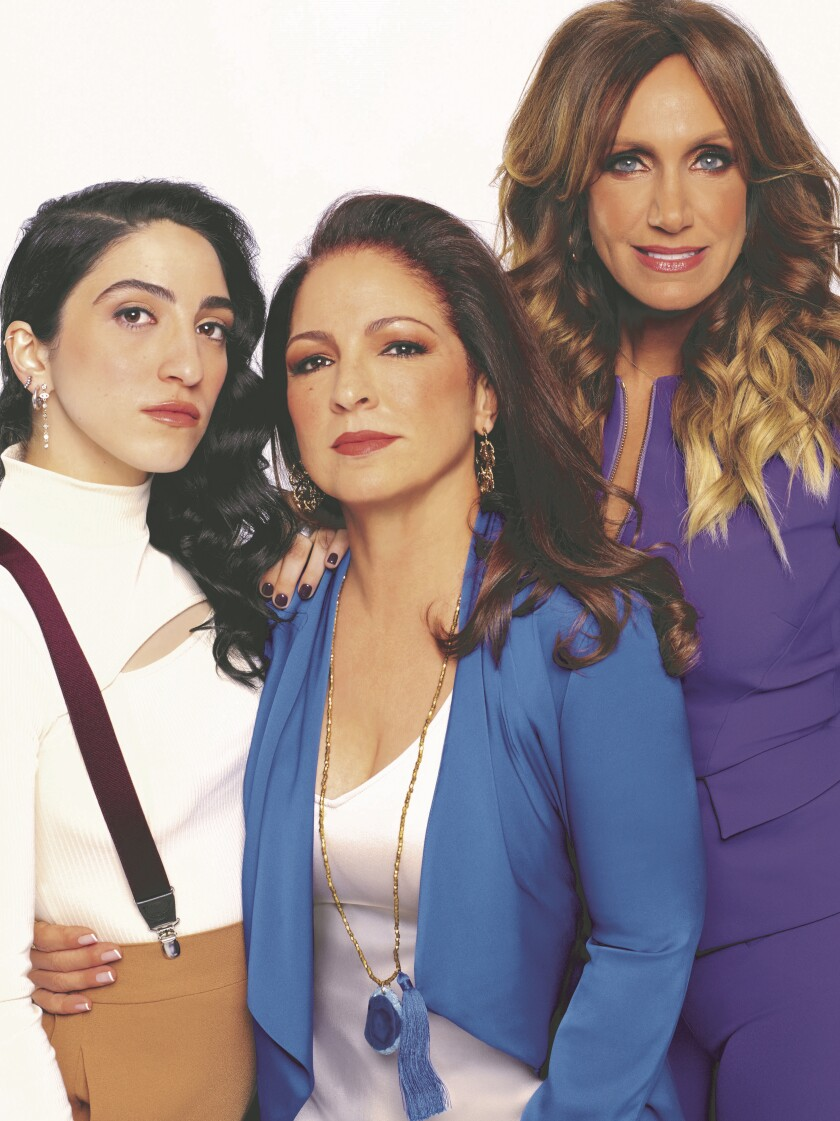 """Red Table Talk: The Estefans"" co-hosts Emily Estefan, left, Gloria Estefan and Lili Estefan"