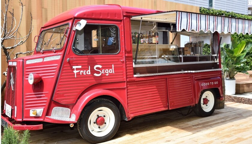 A food truck, a nod to Fred Segal's L.A. roots, is parked outside the retailer's first international outpost, Fred Segal Daikanyama, which opened in Tokyo on April 17.