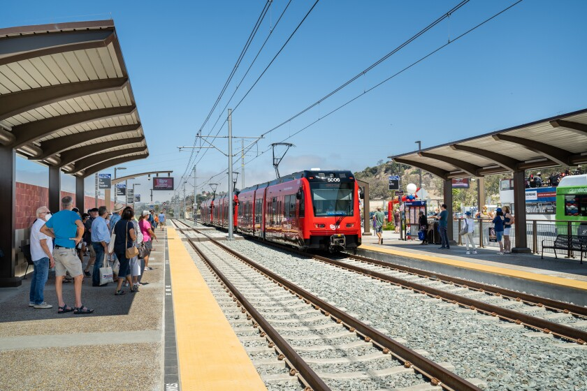 The Balboa Avenue station, taken at an Aug. 28 festival previewing the new Mid-Coast stations.